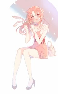 Rating: Safe Score: 46 Tags: abe_nana animal_ears bunny_ears cleavage dress heels the_idolm@ster the_idolm@ster_cinderella_girls torano User: yanis