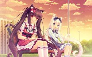 Rating: Safe Score: 94 Tags: animal_ears chocolat dress game_cg neko_para neko_works nekomimi sayori tail vanilla User: Mr_GT