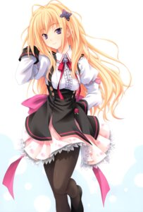 Rating: Safe Score: 77 Tags: kisaragi_mifuyu miyama-zero overfiltered pantyhose seifuku tayutama User: blooregardo
