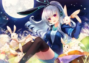 Rating: Safe Score: 45 Tags: animal_ears bunny_ears headphones k.r.t.girls nana_(k.r.t.girls) shinia thighhighs User: BattlequeenYume