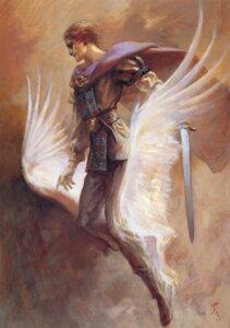 Rating: Safe Score: 2 Tags: male suemi_jun sword wings User: Radioactive