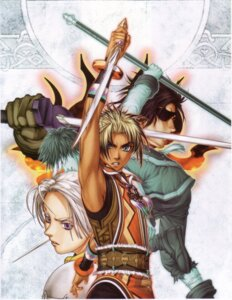 Rating: Safe Score: 2 Tags: armor chris_lightfellow eyepatch flame_champion geddoe hugo ishikawa_fumi suikoden suikoden_iii sword User: Radioactive