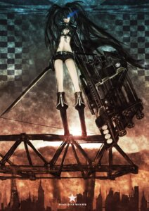 Rating: Safe Score: 24 Tags: bikini_top black_rock_shooter black_rock_shooter_(character) gun litlicha sword vocaloid User: Splaash.-