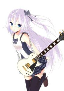 Rating: Safe Score: 42 Tags: guitar jpeg_artifacts morinaoekaki thighhighs User: 椎名深夏