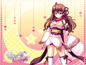 Rating: Safe Score: 21 Tags: cleavage japanese_clothes momochi_aeka palette steal_my_heart tamahiyo thighhighs wallpaper User: topcdmouse