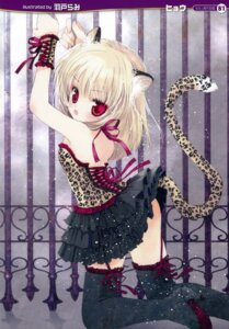 Rating: Safe Score: 38 Tags: animal_ears rami stockings tail thighhighs User: petopeto