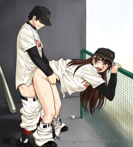 Rating: Explicit Score: 33 Tags: azasuke azasuke_wind baseball momoe_maria ookiku_furikabutte panty_pull sex User: Radioactive