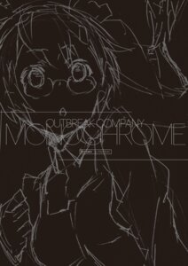 Rating: Safe Score: 4 Tags: digital_version megane monochrome outbreak_company sketch yuugen User: Twinsenzw