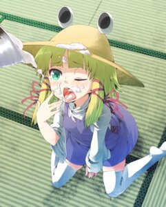 Rating: Questionable Score: 15 Tags: cream moriya_suwako notsugimi thighhighs touhou User: Radioactive