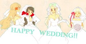 Rating: Safe Score: 4 Tags: ayata belarus dress hetalia_axis_powers hungary liechtenstein seychelles wedding_dress User: Radioactive