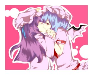 Rating: Safe Score: 10 Tags: patchouli_knowledge remilia_scarlet richard_(artist) touhou yuri User: Radioactive