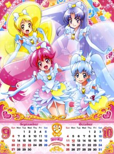 Rating: Safe Score: 10 Tags: aino_megumi calendar dress happiness_charge_precure! hikawa_iona oomori_yuuko pretty_cure satou_masayuki shirayuki_hime_(precure) User: drop