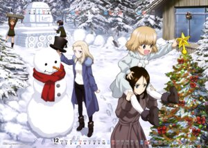 Rating: Safe Score: 15 Tags: alina_(girls_und_panzer) calendar christmas clara_(girls_und_panzer) dress girls_und_panzer heels katyusha nina_(girls_und_panzer) nonna sweater uniform User: drop