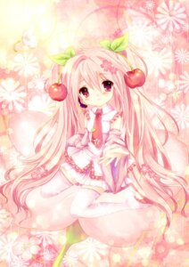 Rating: Safe Score: 40 Tags: dress hatsune_miku sakura_miku vocaloid yuzu_osamu User: charunetra