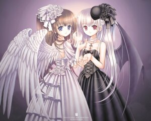 Rating: Safe Score: 27 Tags: dress kazumi lolita_fashion wallpaper wings User: vleev