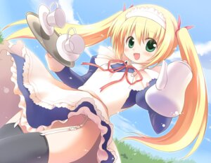 Rating: Questionable Score: 16 Tags: emurin maid nopan stockings thighhighs User: Nekotsúh