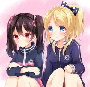 Rating: Safe Score: 36 Tags: ayase_eli gym_uniform love_live! nameneko_(124) yazawa_nico User: Mr_GT