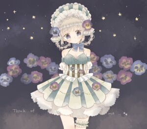 Rating: Safe Score: 22 Tags: cleavage dress flowers garter lolita_fashion User: Radioactive