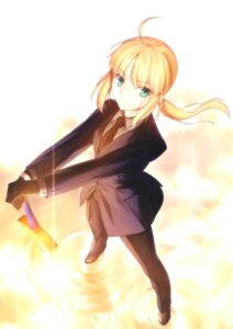 Rating: Safe Score: 12 Tags: fate/stay_night fate/zero saber takeuchi_takashi type-moon User: Saturn_V