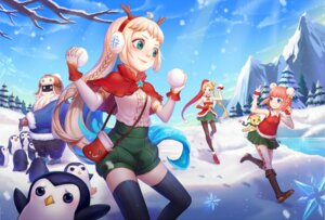 Rating: Safe Score: 16 Tags: annie_hastur christmas dress heels horns jinx kezi league_of_legends pantyhose penguin pointy_ears thighhighs zoe_(league_of_legends) User: Mr_GT