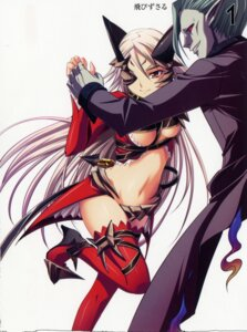 Rating: Questionable Score: 7 Tags: aldra armor delmore devil eyepatch horns kantaka maebari open_shirt queen's_blade thighhighs underboob User: admin2