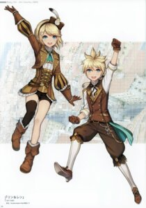 Rating: Safe Score: 10 Tags: 2d heels kagamine_len kagamine_rin thighhighs vocaloid User: kiyoe