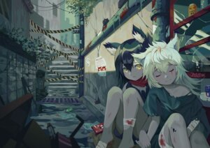 Rating: Safe Score: 26 Tags: 100wang animal_ears arknights bandages blood torn_clothes User: Mr_GT