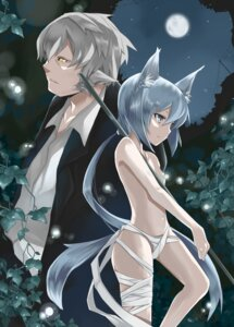 Rating: Questionable Score: 9 Tags: animal_ears nekomimi shirokuro topless User: cheese