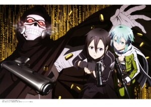 Rating: Safe Score: 21 Tags: armor bandages cleavage death_gun gun gun_gale_online kirito sinon sword_art_online takata_akira User: drop