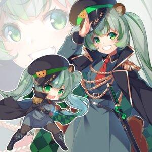 Rating: Safe Score: 9 Tags: animal_ears animare chibi hinokuma_ran kokka_han pantyhose sword uniform User: Dreista