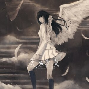 Rating: Safe Score: 11 Tags: ama_no_shoujo disc_cover innocent_grey kara_no_shoujo seifuku skirt_lift tagme wings User: moonian