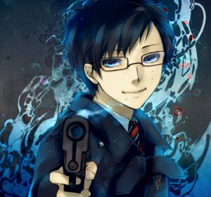Rating: Safe Score: 8 Tags: ao_no_exorcist aoshiki gun male megane okumura_yukio User: charunetra