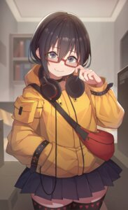 Rating: Safe Score: 31 Tags: headphones hitokuchii megane thighhighs User: Mr_GT