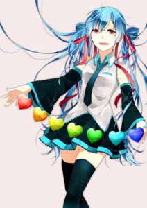 Rating: Safe Score: 11 Tags: hatsune_miku hibiya thighhighs vocaloid User: gogotea28