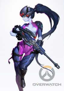 Rating: Questionable Score: 32 Tags: bodysuit gun no_bra open_shirt overwatch reisun001 widowmaker User: charunetra