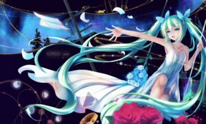 Rating: Safe Score: 48 Tags: cleavage dress hatsune_miku kuroi_asahi tattoo vocaloid User: charunetra