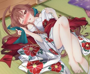 Rating: Safe Score: 40 Tags: feet kantai_collection kuma_(kancolle) open_shirt yukata yukina_(black0312) User: Mr_GT