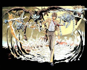 Rating: Safe Score: 7 Tags: death_note male obata_takeshi ryuk wallpaper yagami_light User: Radioactive