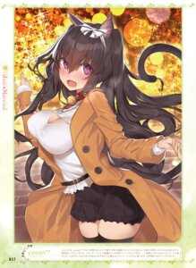 Rating: Questionable Score: 41 Tags: animal_ears cleavage tail thighhighs yaman User: Twinsenzw