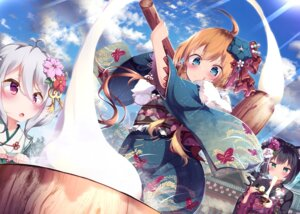 Rating: Safe Score: 28 Tags: animal_ears doaka kimono kokkoro kyaru_(princess_connect) pecorine princess_connect princess_connect!_re:dive weapon User: BattlequeenYume