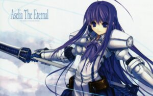 Rating: Safe Score: 27 Tags: armor aselia_bluespirit eien_no_aselia hitomaru screening sword wallpaper xuse User: TBFGETTA