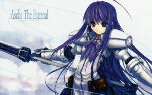 Rating: Safe Score: 28 Tags: armor aselia_bluespirit eien_no_aselia hitomaru screening sword wallpaper xuse User: TBFGETTA