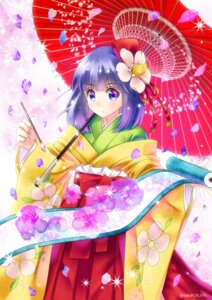 Rating: Safe Score: 21 Tags: hieda_no_akyuu kimono sato-pon touhou umbrella User: Mr_GT