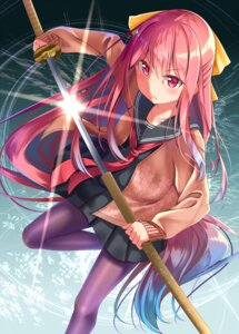 Rating: Safe Score: 31 Tags: gurande kamikaze_(kancolle) kantai_collection pantyhose seifuku sweater sword User: Mr_GT