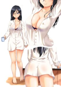 Rating: Questionable Score: 27 Tags: ass bra dress_shirt hibike!_euphonium jjune megane open_shirt see_through tanaka_asuka User: BattlequeenYume