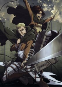 Rating: Safe Score: 10 Tags: erwin_smith hanji_zoe shingeki_no_kyojin sword uniform User: Radioactive