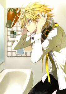 Rating: Safe Score: 14 Tags: gin_(oyoyo) headphones kagamine_len male vocaloid User: hobbito