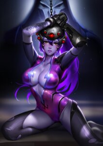 Rating: Questionable Score: 98 Tags: bodysuit bondage cameltoe cleavage liang_xing no_bra open_shirt overwatch tattoo torn_clothes wet widowmaker User: mash