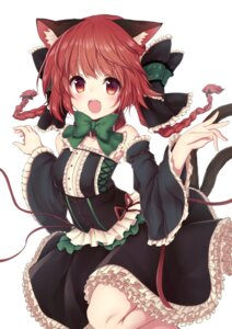 Rating: Safe Score: 32 Tags: animal_ears dress kaenbyou_rin nekomimi tail topia touhou User: Mr_GT