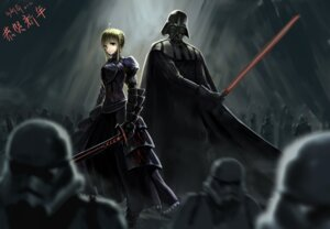 Rating: Safe Score: 27 Tags: armor crossover darth_vader dress fate/stay_night saber star_wars weapon User: Yokaiou